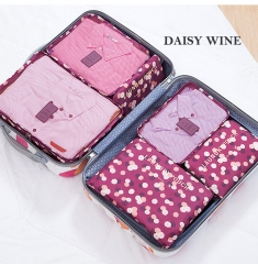 6 In 1 Travel Bag Storage Bag For Waterproof Clothing Organizer Portable Travel Organizer Bag daisy wine six sets
