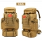 80L Large Capacity Mountaineering Backpack Camping Hiking Military Camo Waterproof Tactical Bag khaki one size