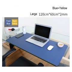 Leather Double Side Mouse Pad Large size Notebook Computer Mousepad Gaming Mouse double sided blue+yellow L