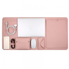 5 in 1 Set PU Leather Laptop Bag for Macbook Air Pro Retina 11 12 13 15 Case Notebook Cover pink 11.6 inch