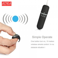 Finger Ring Wireless Remote Control Bullet Vibrator 10 Mode egg Vibrating Clitoris Stimulator black one size
