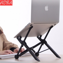 ADRA Portable Laptop Stand Adjustable Eye-Level Ergonomic For PC Laptop MacBook Black
