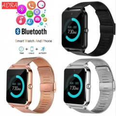 ADRA Smart Watch Z60 Bluetooth Smartwatch Support SIM/TF Card Wristwatch For Apple Android Phone black