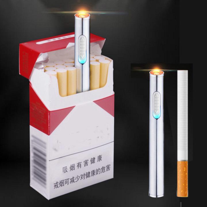 USB Charge cigarette lighter Metal Rechargeable Electronic cigarette Lighter Cigar Fire Smoker