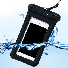 Float Airbag Waterproof Mobile phone case Cover Dry Pouch Universal waterproof bag black 11*19.5cm