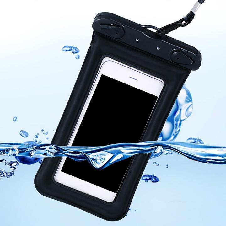 Float Airbag Waterproof Mobile phone case Cover Dry Pouch Universal waterproof bag black 11*19.5cm