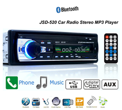 12V Car Stereo FM Radio Support Bluetooth Phone MP3 Audio Player with USB/SD MMC Port