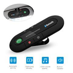 Handsfree Car Kit Wireless Bluetooth Speaker Phone MP3 Music Player Sun Visor Clip Speakerphone