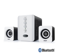 Bluetooth Wired Speaker Subwoofer 3D Surround Stereo Bass PC Speaker TF Card for Computer White One Size