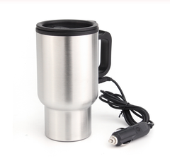 ADRA Mini Thermal Mug Portable 12V Stainless Steel Heating Car Drink Mug Hot Drink Travel Cup