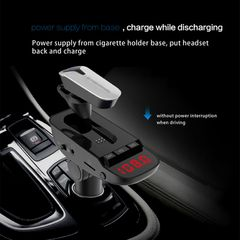 Car Kit Wireless Bluetooth Business Headset FM/TF Card Mp3 Player Dual USB Car Charger