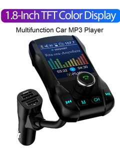 1.8Inch Color Screen Car MP3 Music Player Bluetooth FM Transmitter Aux Audio Output Car Charger