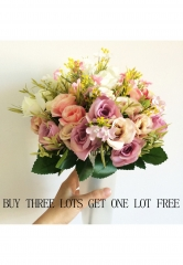 Artificial Flowers Rose for Wedding Party Birthday Decoration Silk Flowers Colorful DIY Flower mix one size