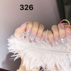 Buy Two get One Free False Nail With Jewelry And Sticky Back Various Styles 326