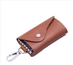 2018 Men's Fashion leather key bag camel as picture