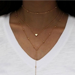 Buy Two Get One Free Women's New Multi-layer Necklace Set Various Styles A as picture