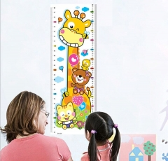 Height Ruler Giraffe Vision Chart Cartoon Height Paste Wall Paste Multi - color Random color 24*70cm