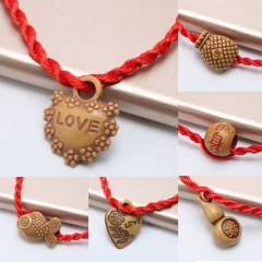 Pack of 2 Lovers Bracelet rose&love Couples Blessing red as picture