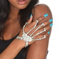 Skull bracelets, Halloween decorations sliver as picture