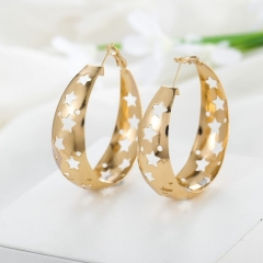 Hollow out the stars ear ring, pop star earrings gold as picture
