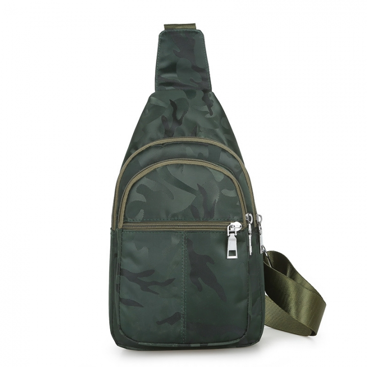 Women Men Fashion Bag Waterproof Portable Cool Vintage Men Nylon Messenger  Sling Bag Army Green as f3c06209b2656
