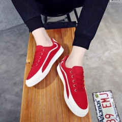 New style men's fashion shoes, European and American style, men's shoes, lace, casual shoes gules 39