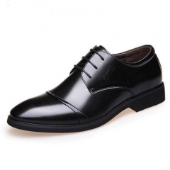 Men's leather shoes 2018 new products, men's shoes, business casual shoes, men's shoes. black 39