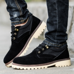 New leather shoes fashion men's shoes retro industrial shoes men's casual shoes business shoes. black 39