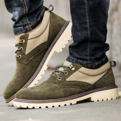New leather shoes fashion men's shoes retro industrial shoes men's casual shoes business shoes. green 44