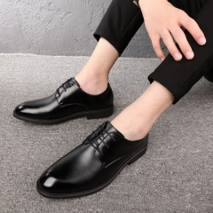 New seasons men's casual pointed shoes youth Korean men's shoes fashion shoes. black 38