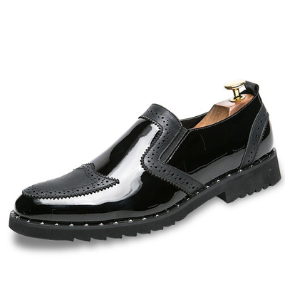 89335b8ecfc3a Bullock leather shoes male large size male leather shoes Amazon Bullock  men's shoes black 38