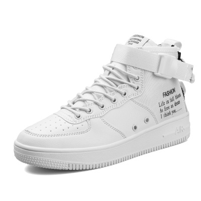 83d0c07eb97 Air force one shoe high white shoes men s white hip hop shoes casual ...