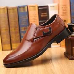 New men's shoes big size leather shoes men's business suits shoes shoe sets wedding shoes. brown 48