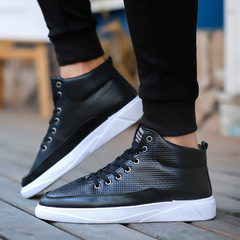 New Shoes Men's English High Uppers Men's Leisure Shoes Men's Shoes Fashion Boots black 42