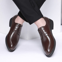 New Genuine Men's Leisure Leather Shoes Men's Suit Business Leather Shoes 2019 brown 38