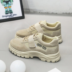 Spring 2019 New Men's ins Explosive Old Daddy Shoes Low-Up Workwear Shoes Leisure Sports Men's Shoes beige 44