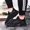 Men Casual Shoes Breathable Lace-Up Sapatos Casuais Light Men Shoes Male Zapatillas Hombre Anti-skid black 39