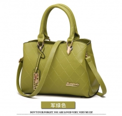 New trend women's handbags Europe and the United States Boston fashion shoulder diagonal package green Length 29 width 10 height 20