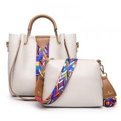 New fashion handbags wild tassel ribbon ladies shoulder bag simple Messenger bag handbag white Length 24 width 10 height 23