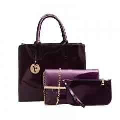 New trend simple mother bag fashion shoulder bag purple Length 32 width 11 height 27