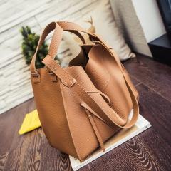 New variants mother bag fashion trend casual large capacity handbag lychee pattern handbag brown 33*30*17