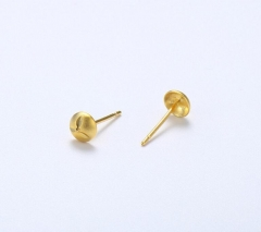Imitation gold 23k gold simple small jewelry earrings female retro car flower small earrings Gold one