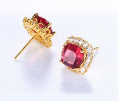 Fashion zircon earrings A one