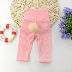 Girls' Daily Solid Pants, Cotton All Seasons Long Sleeves Cute Blushing pink GX581C 70