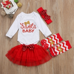 Girls' Daily Color Block Clothing Set, Cotton Spring Long Sleeves Cute red ZM114A 90
