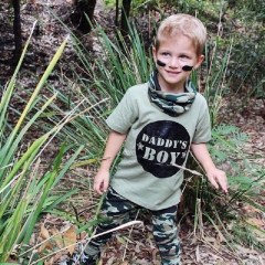 Cool Newborn Baby Boys' Girls' Camouflage T-Shirt+Pants Clothing Sets Outwear Outfits BOY army green GG268A 70