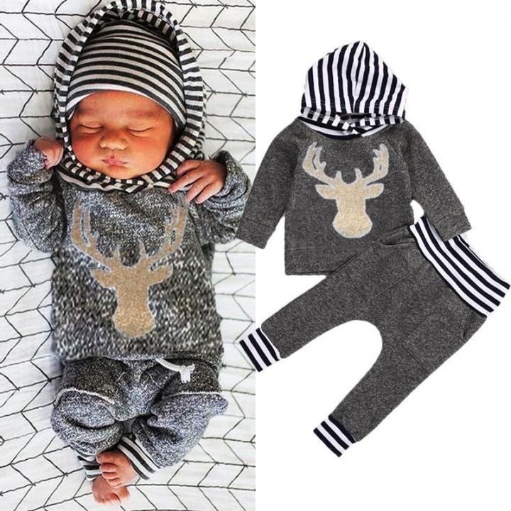 a0cda1a59531 Boys' Daily Animal Print Color Block Clothing Set, Cotton Spring Long  Sleeves Casual gray
