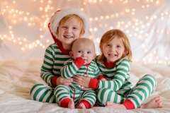 Newborn Christmas Pajamas Baby Romper Toddler Outfit Infant Striped Jumpsuit green GG191B 3M