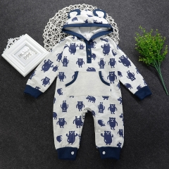 Baby Boys Jumpsuit Newborn Toddler Romper Overall Infant Bodysuit Boys Clothing royalblue GL139A 100