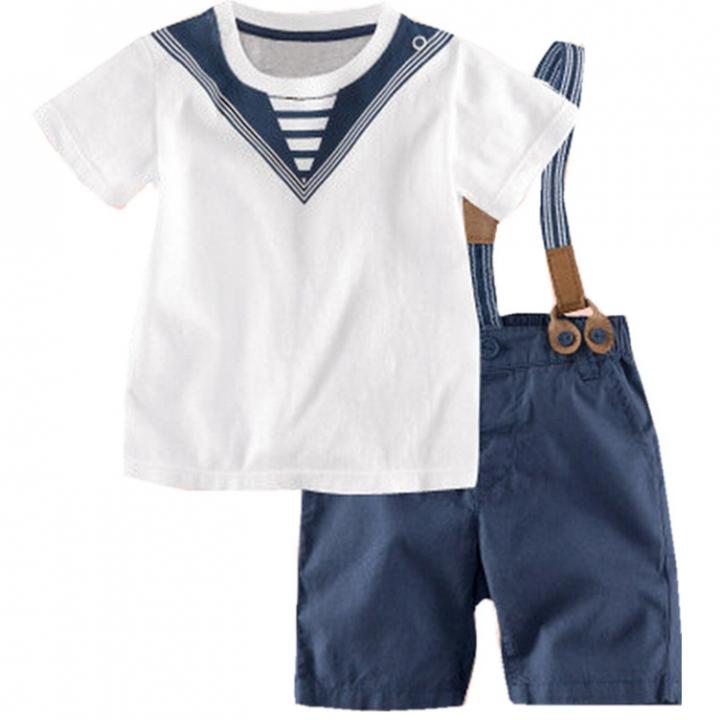 Baby boys Clothing Set Kid Outwear Boy Clothes Toddler Shirt+short pants blue GX228A 110